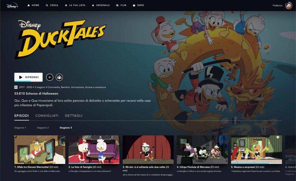 Stagione 3 di DuckTales 2017 in italiano su Disney+