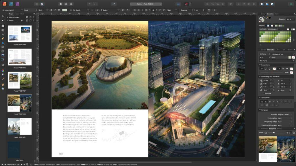 Aggiornamento Affinity Designer, Photo e Publisher 1.10 che migliorando le prestazioni rendendole fino a dieci volte più veloci