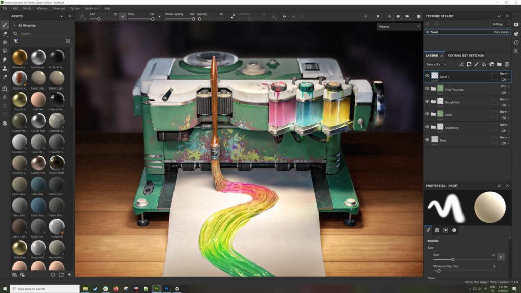Adobe Substance 3D Painter, definito il Photoshop del 3D
