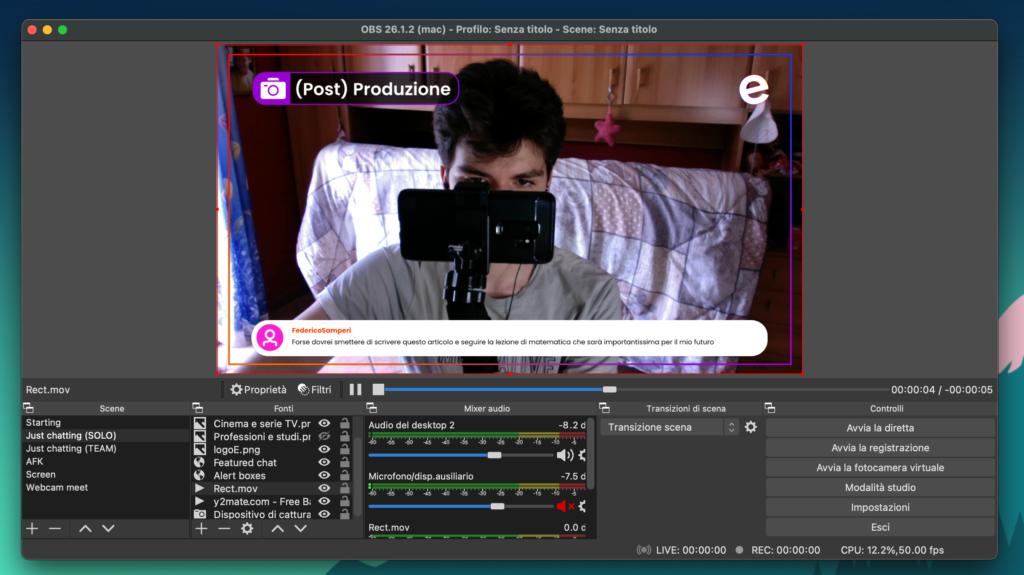 Scene di OBS, Streaming su YouTube e su Twitch